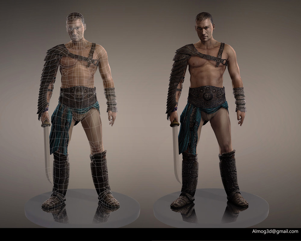 character spartacus 3d model