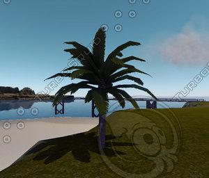 3d tall date palmtree model