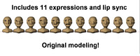 free blend model cartoon morphs