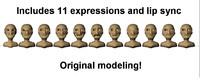 free blend model cartoon morphs
