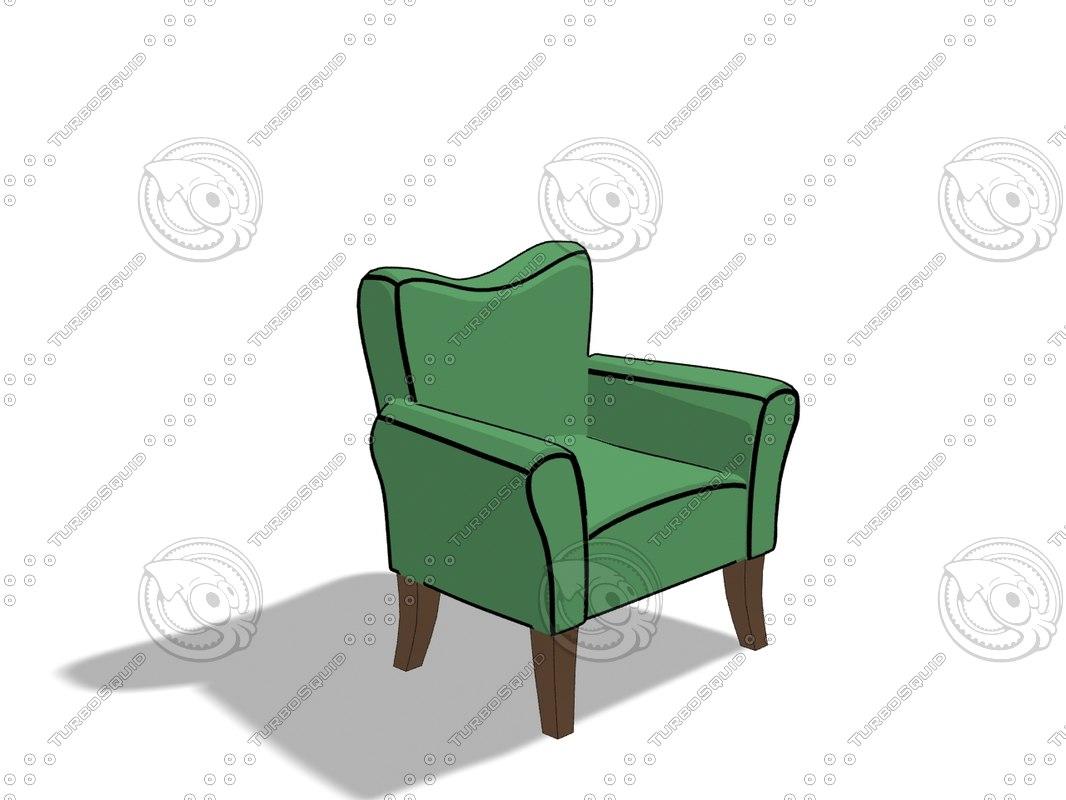 simple cartoon chair max