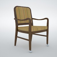 3ds max fairfield contract occasional arm chair
