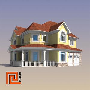 3d model house modeled designers