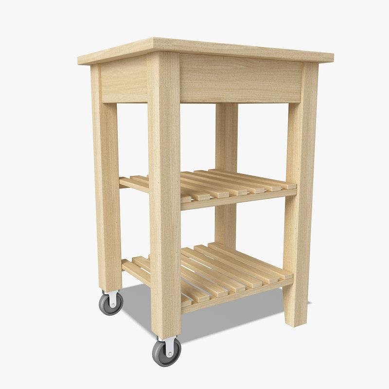 Cart table 3d model - Ikea portaspezie bekvam ...