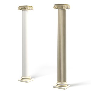 ionic column classic 3d max