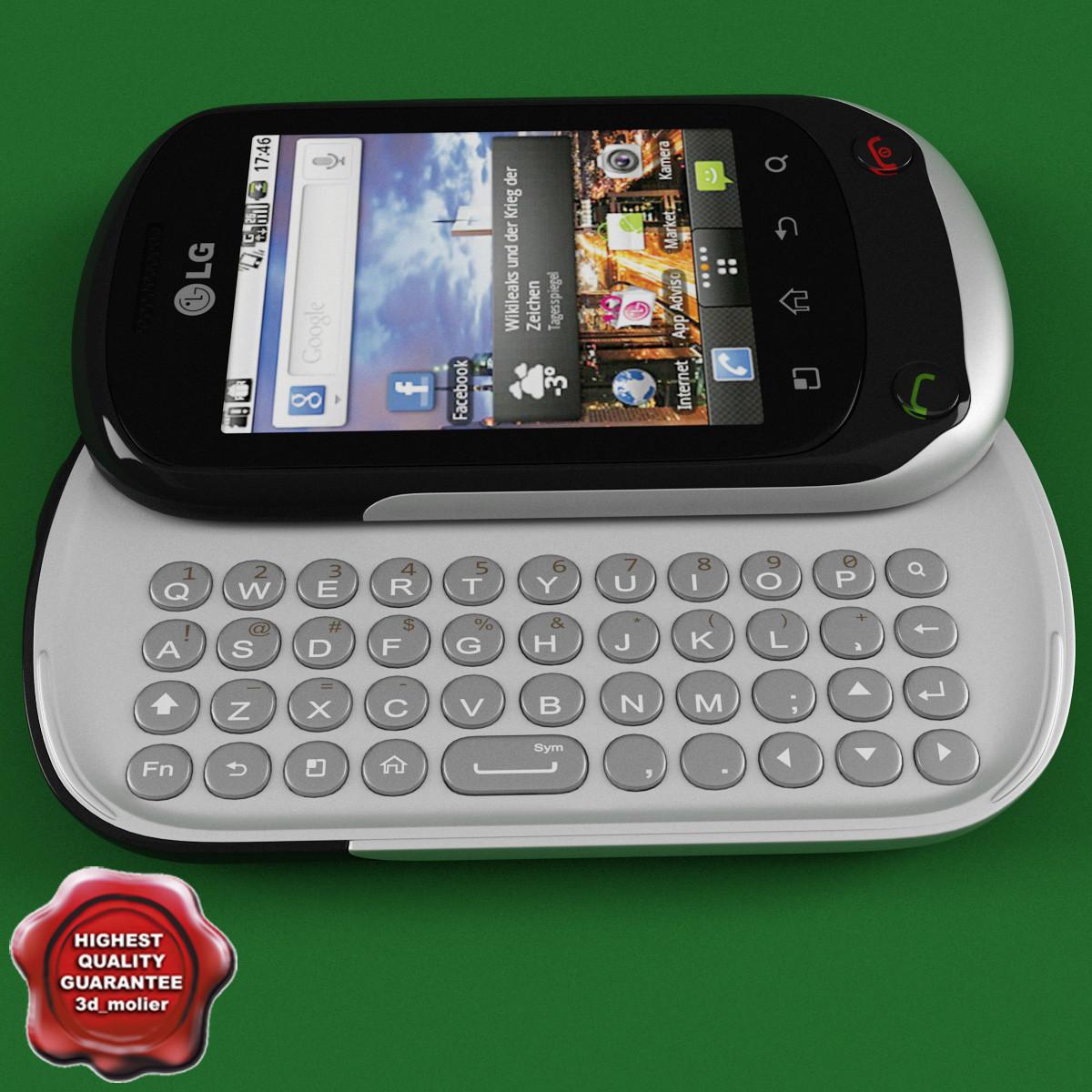 3d lg c550 optimus chat
