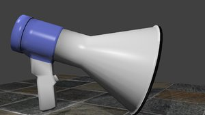 free obj model megaphone mega phone