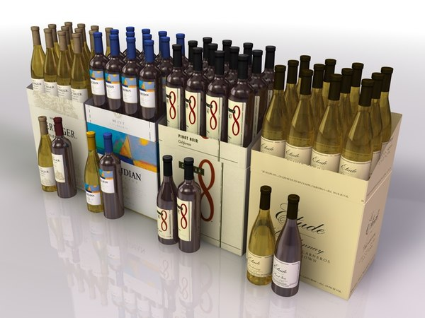 bottles treasury wine estates 3d 3ds