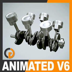 3ds max animation v6 engine cylinders