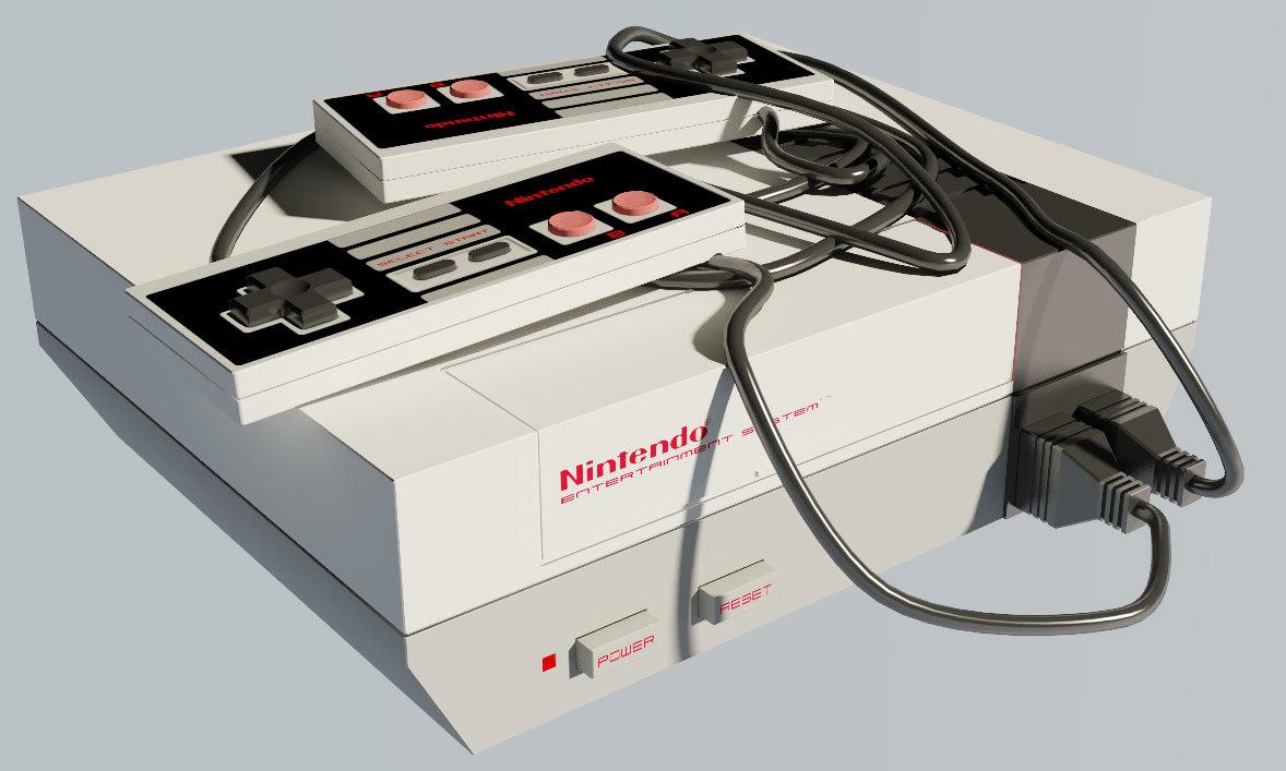 3d model nintendo 8bit console