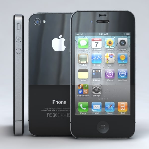 3d apple iphone 4 4s