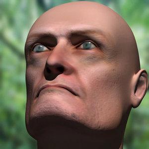 3d model jhon locke head