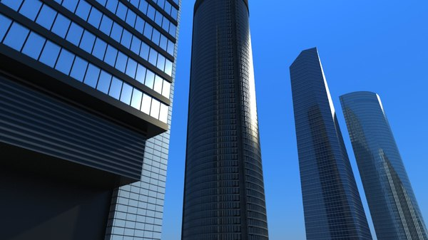 madrid skyscraper tower 3d 3ds