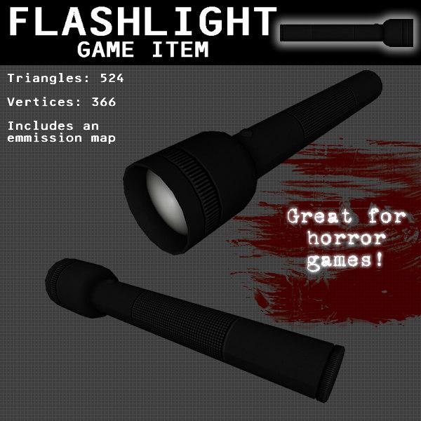 flashlight games light 3d model