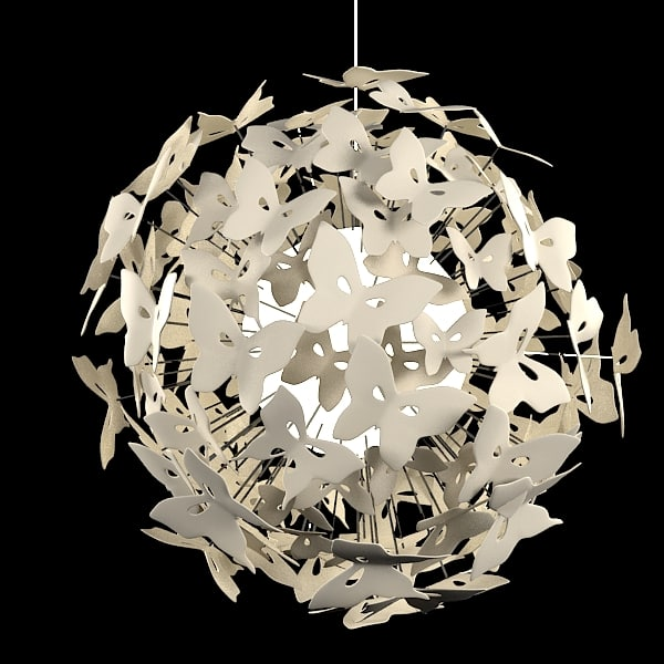 3ds max chandelier butterfly ball