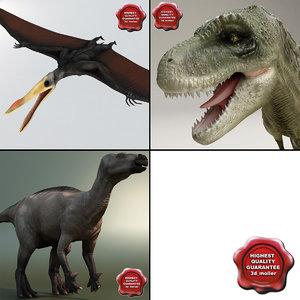 3d model dinosaurs v1