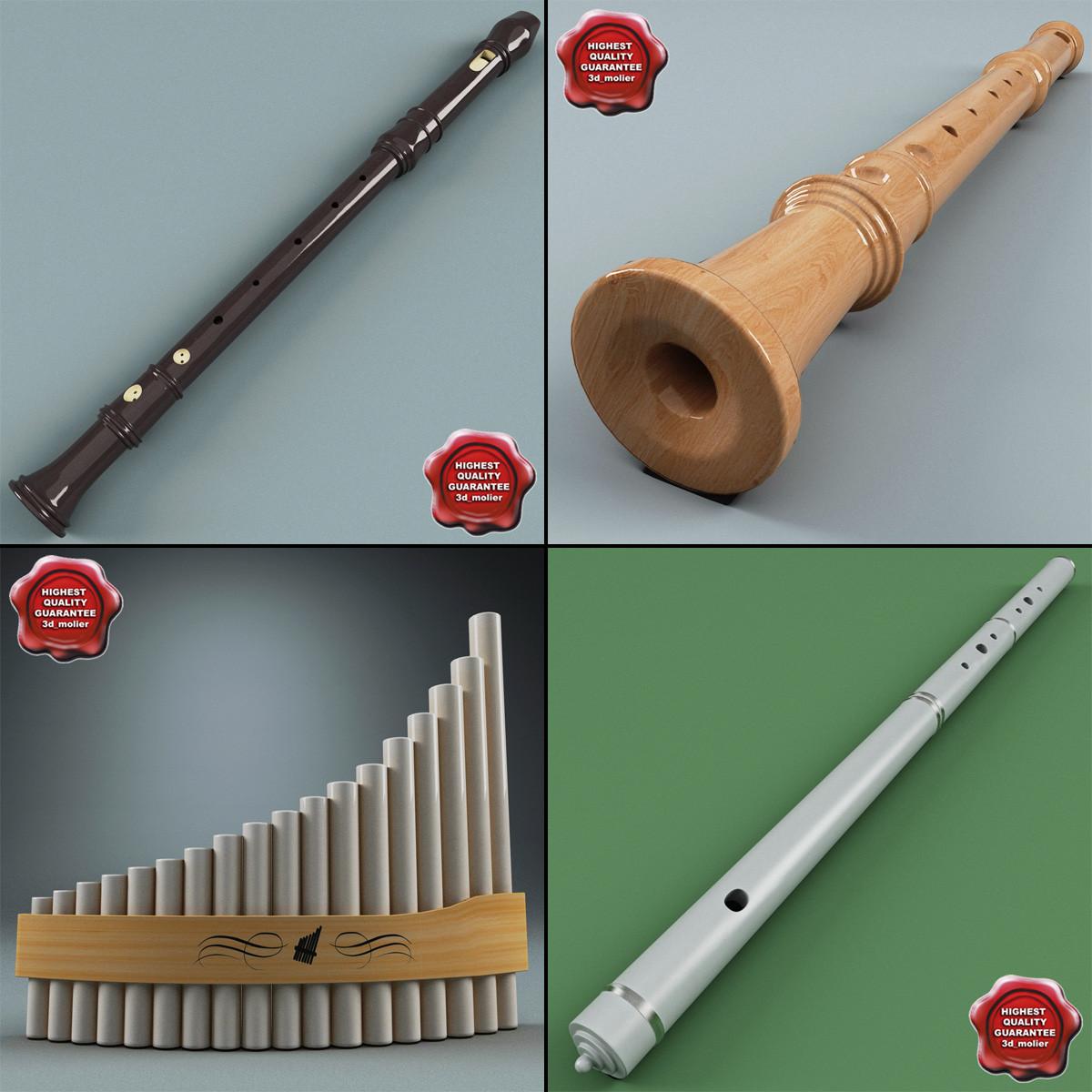 maya flutes set details