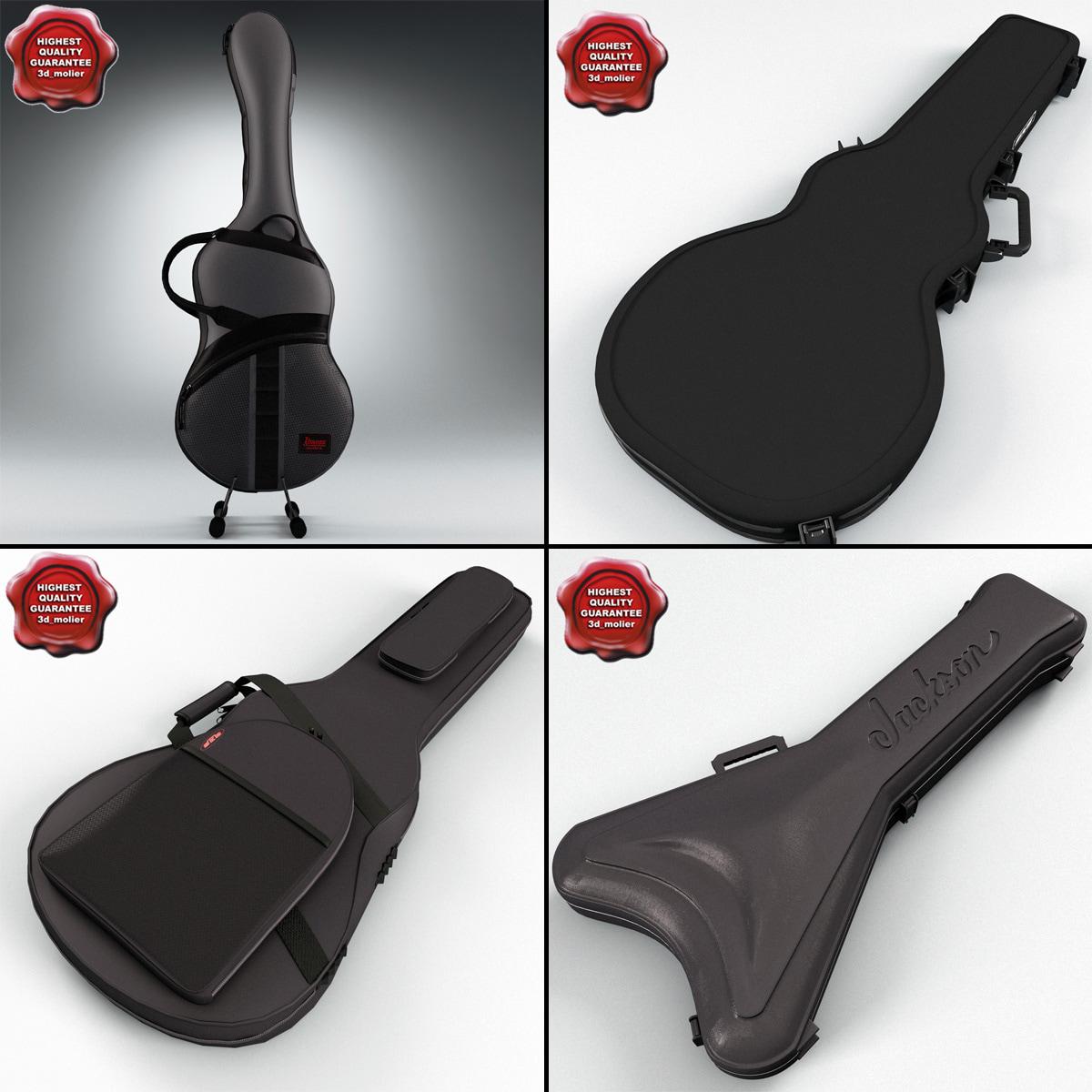 guitar cases 3d model