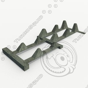 barriers - 1938 obstacles 3d model