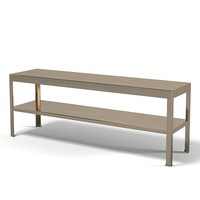 Promemoria Gong console writing table modern contemporary metal bronze brass