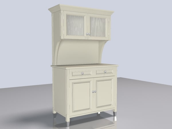 hutch cupboard 3d model