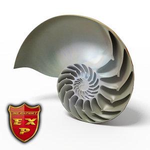 seashell nautilus sliced max