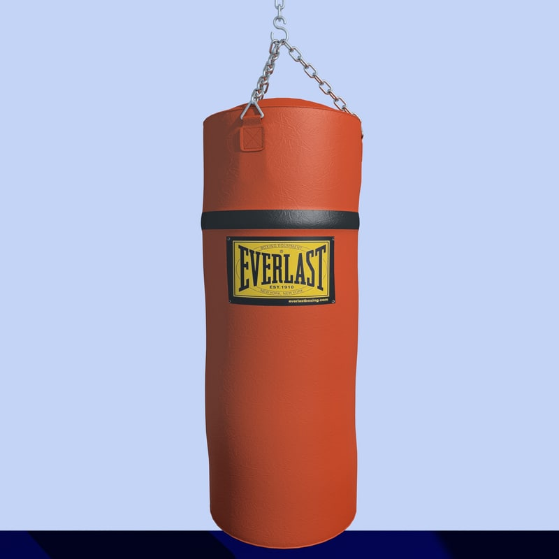 3d boxing leather heavy bag model