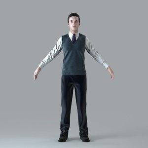 3d max axyz character human