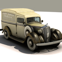 3d antique 1930 panel delivery model