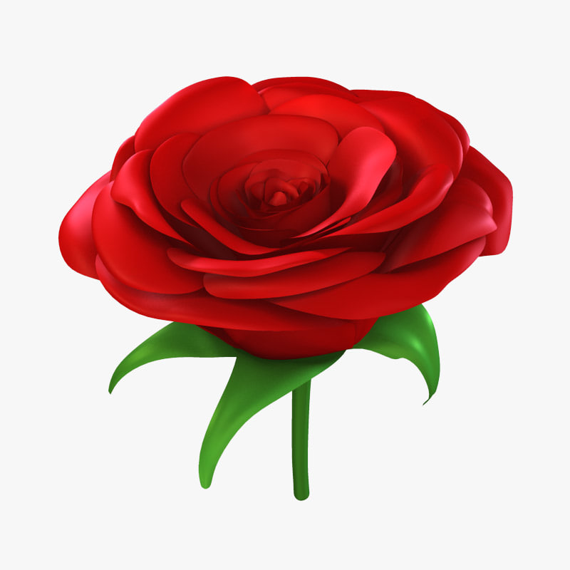 rose modeled 3d max