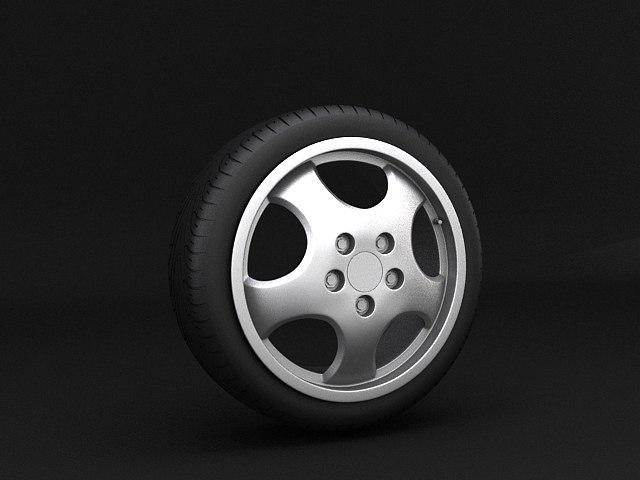 porsche cup wheel 3d model