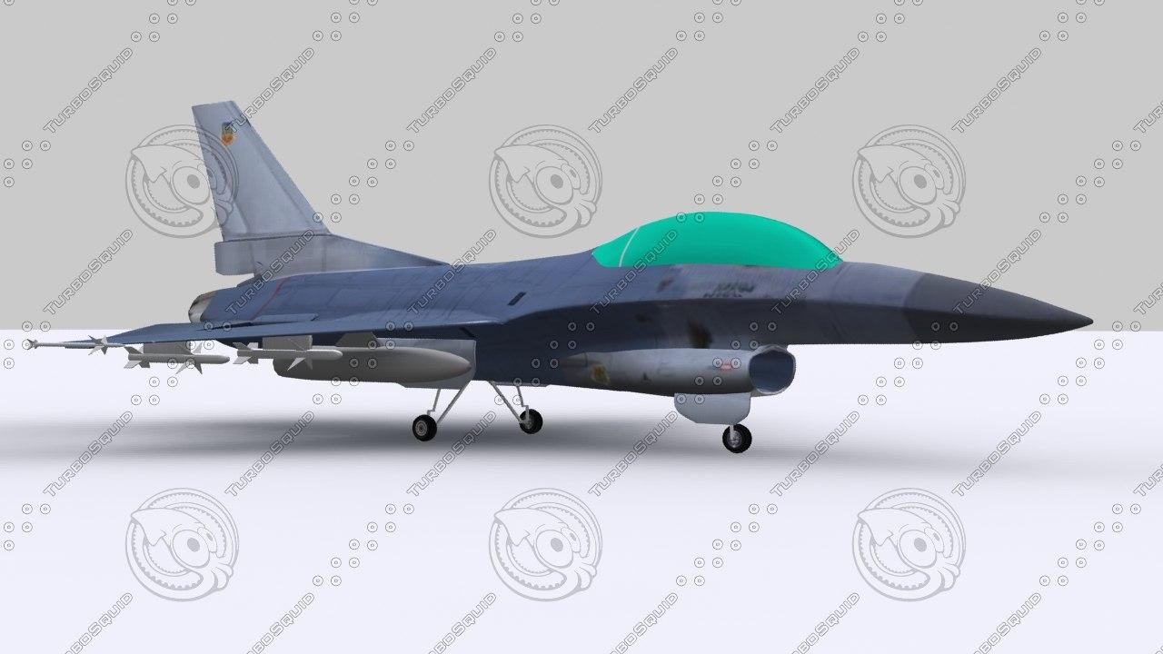 3d model simulator f16