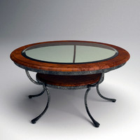 Round Glass Top Cocktail Table