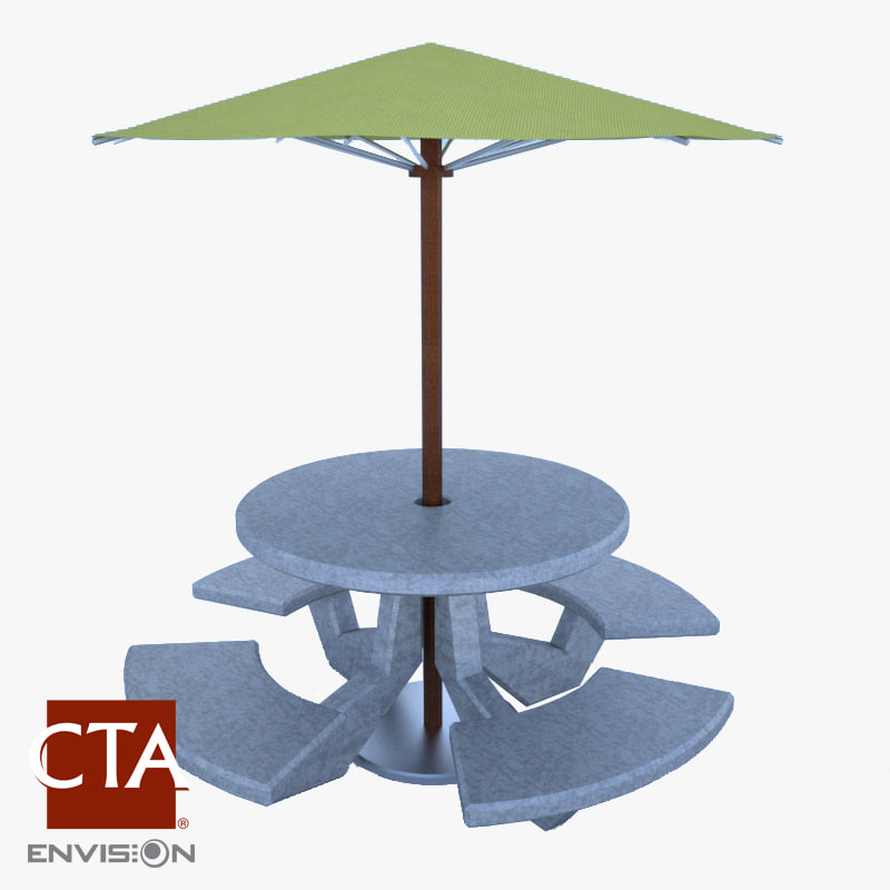 concrete picnic table umbrella max