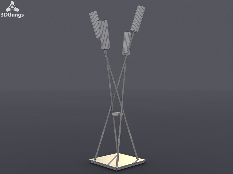 table lamp antique 3d model