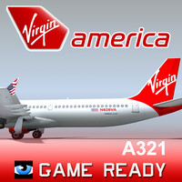 3dsmax a321 virgin america