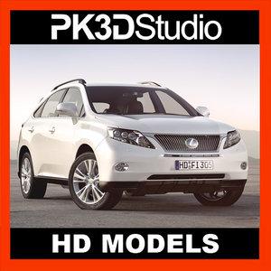 lexus rx car 3d model