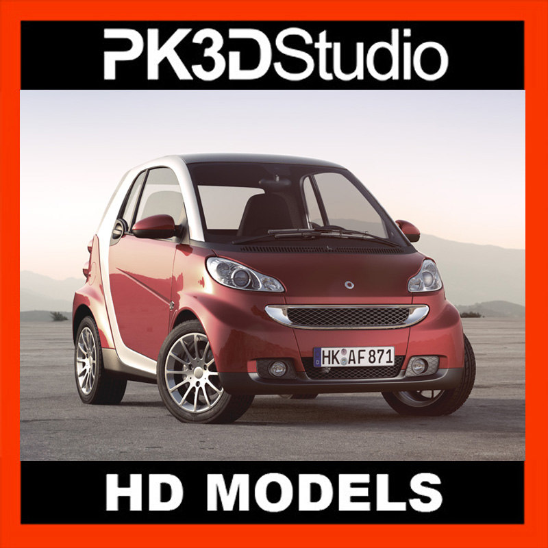 3d smart fortwo car