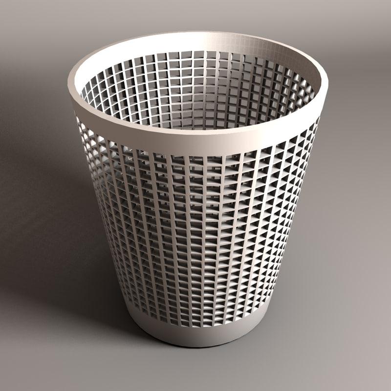 3d garbage bin