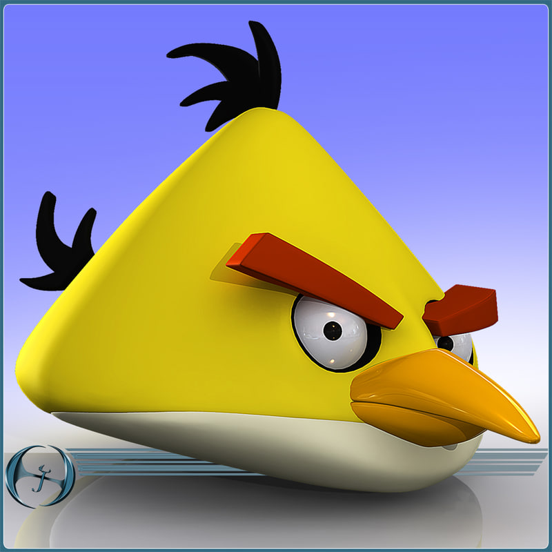 3ds max angry bird character cartoon