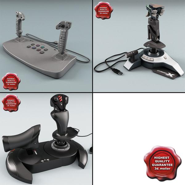 joysticks v2 3d model
