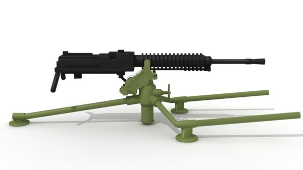 type 92 machine gun 3d obj