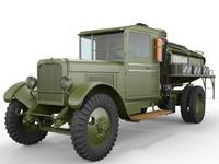 3dsmax zis-5-bz refueller truck