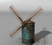 3d model medieval windmill