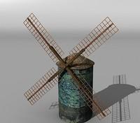 3d model medieval windmill