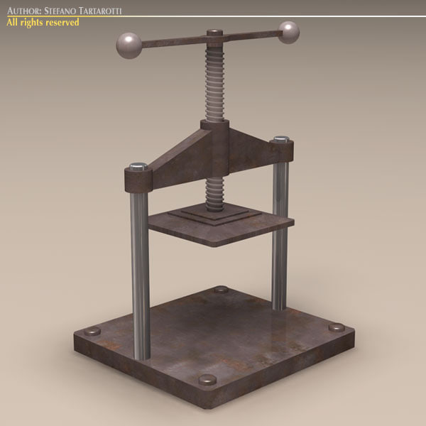 press screw 3d dxf
