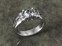 ring jewelry 3d 3dm