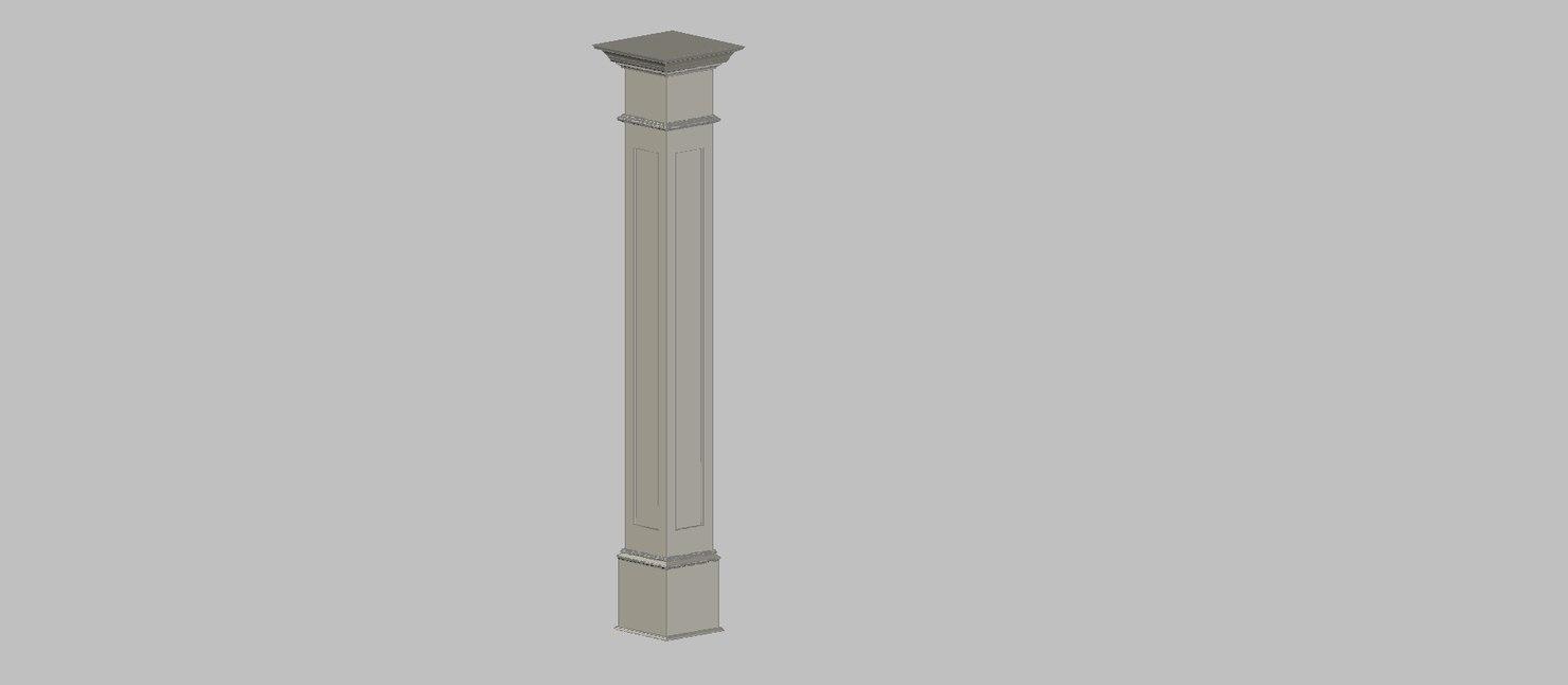 wood column 3d model
