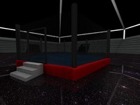 3d model boxing ring