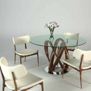 3d porada infinity table set